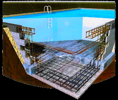 Djerba piscine en b ton djerba fluides for Construction piscine beton technique